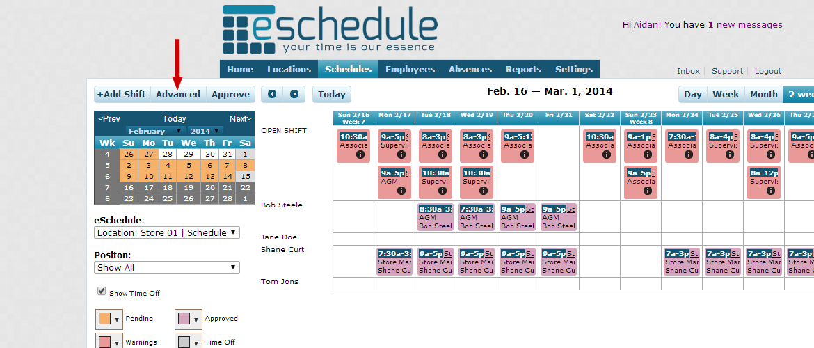 Can I print my eSchedule?