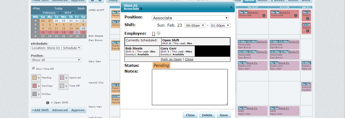 What if an employee does not appear as an option when scheduling?
