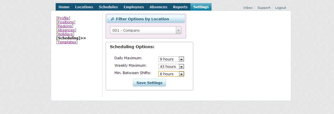 FAQ – How do I set a time interval between shifts?